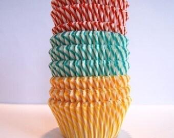 Circus Striped Cupcake Liners (45)