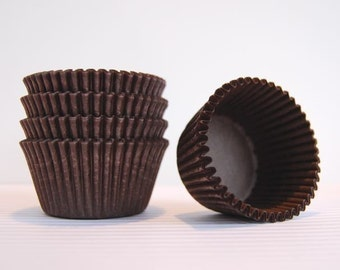 Chocolate Brown Cupcake Liners (50)