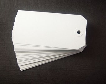 Jumbo Gray Packaging Tags (25 blank tags)