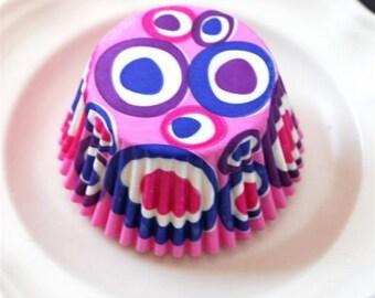 Mod Pink Cupcake Liners (50)