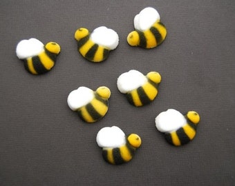 Edible Bumble Bees for Cupcakes or Cake decorations (12)
