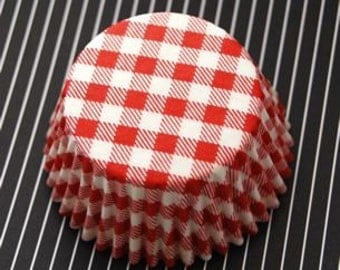 Red Picnic Cupcake LIners (50)