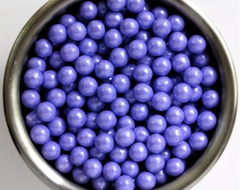 Lavender Pearl Candy Beads- Edible Cupcake Decorations (2 ounces)