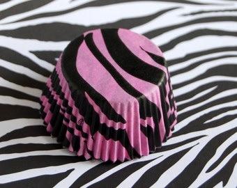 Pink Tiger Stripes Cupcake Liners (50)