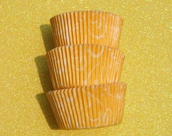 Yellow Gold Arabisk Cupcake Liners (50)