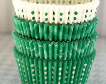Assorted Green Cupcake Liner Pack 1