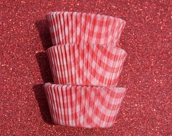 Red Gingham Cupcake Liners (50)