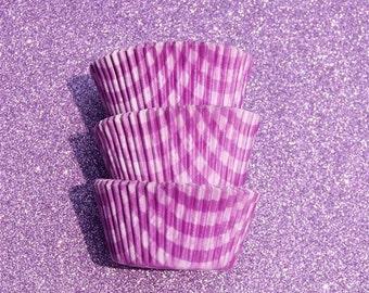Purple Gingham Cupcake Liners (50)