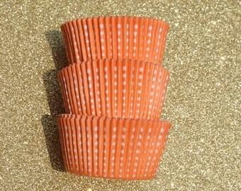 Orange Royal Dotted Cupcake Liners (50)