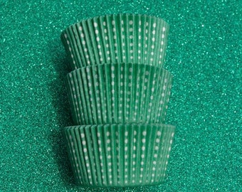 Green Royal Dotted Cupcake Liners (50)