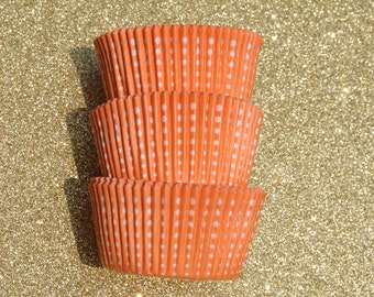 Orange Dotted Cupcake Liners (50)