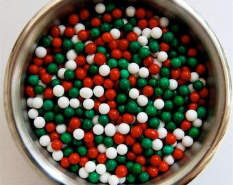 Christmas Sugar Pearls (2 ounces)