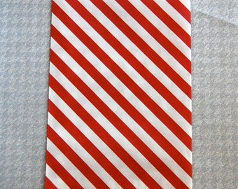 Red Striped Paper Goodie Bags (10)