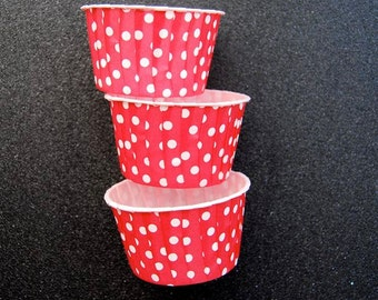 Candy Cups in Red Polka Dots (25)