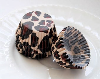 Mini Cupcake Liners 50 New Leopard Print