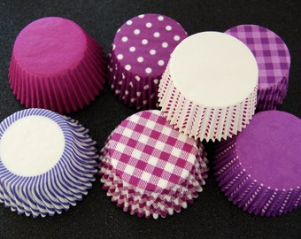 70 Assorted Purple Cupcake Liner Pack