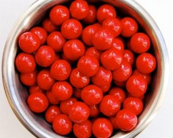 Red Sixlet Sprinkles 8 ounces Jar