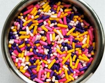 Spring Fun Mix  Jimmies Sprinkles (4 ounces) 1/4 pound