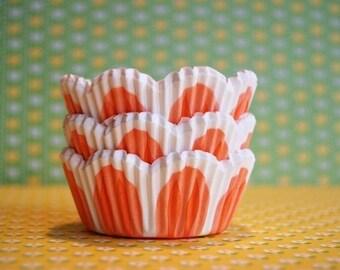 Orange Pastel Tulip Cupcake Liners (50)
