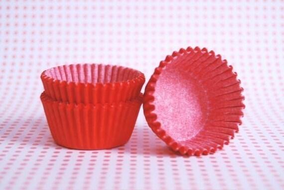MINI Orange Cupcake liners or Candy Cups (50)