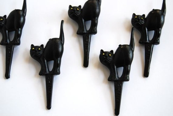 Black Cat Cupcake Toppers (12)