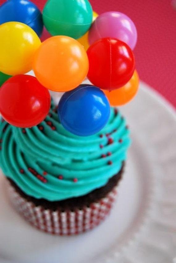 Circus fun balloon Cupcake Toppers (6)