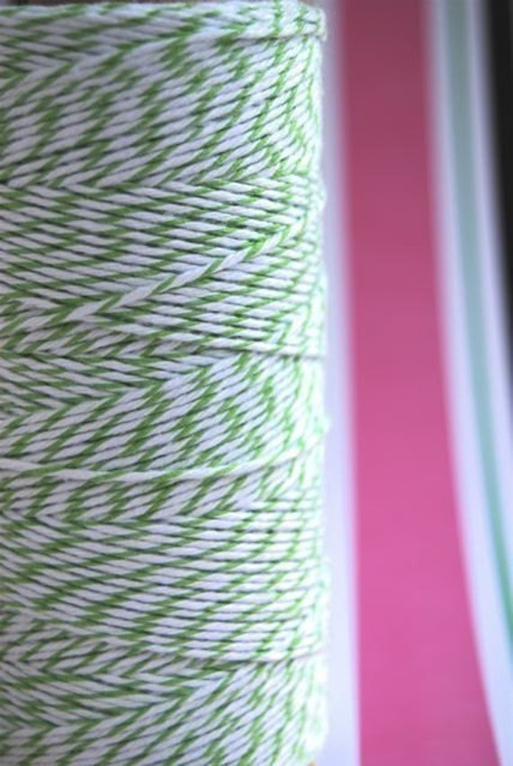 Spool of Green Apple and White Divine Twine (240 yards)