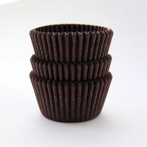 American Mini Cupcake Liners Brown 50 per pack