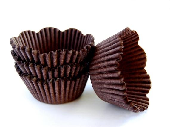Brown Petal Cupcake Liners (50)