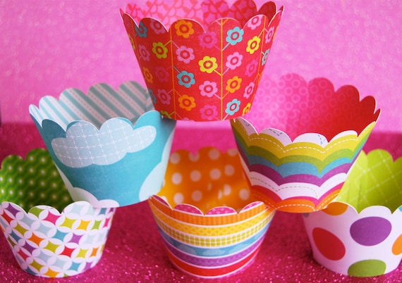 Summer FUN Cupcake Wrappers  (12)