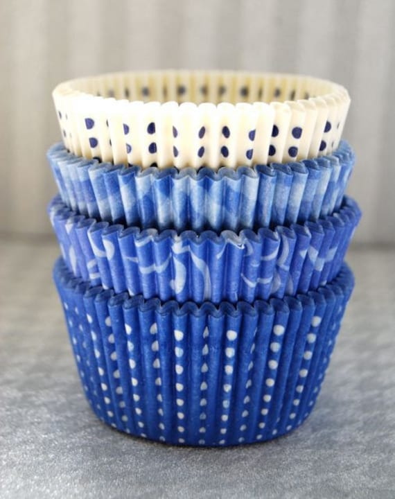 Assorted Blue Cupcake Liner Pack 1