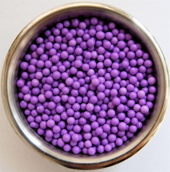 Lavender Sugar Pearls- Edible Cupcake Decorations (2 ounces)