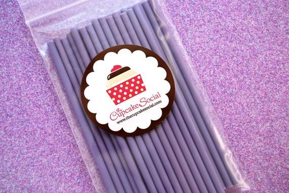Purple Lavender Cake Pop Sticks  (25 sticks per pack)