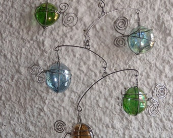 Glass Fish Mobile Kinetic Sculpture