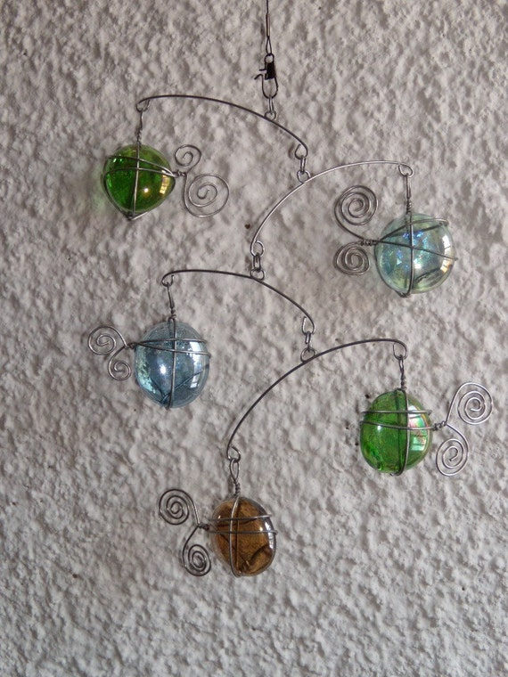 Mobile, Sun Catcher, Glass, Fish, Kinetic Sculpture