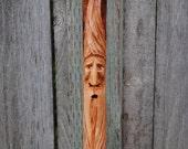 Carved Hiking Walking Stick....Sugar Maple......(11-097)