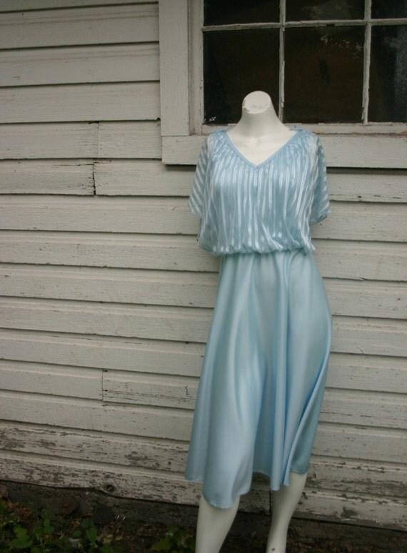Vintage Powder Blue Cocktail Gown.  Size medium.