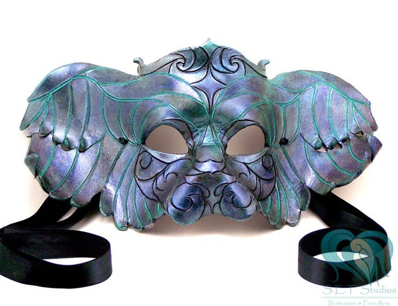 Venetian Inspired Leather Winged Lion Mask