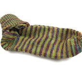 Calypso Socks - One Pair of Women's Size 8 Socks Knit - Pink Blue Green Yellow Orange Lime