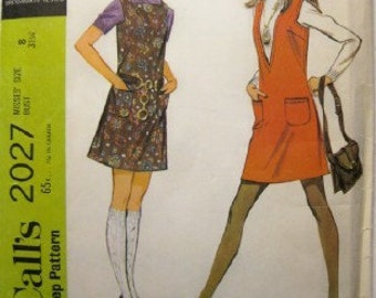 SALE - McCall's 2027 Misses Jumper sewing pattern 1969 uncut