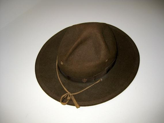 Vintage Boy Scout Campaign Hat
