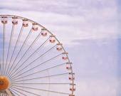 Nursery Photography nature art decor ferris wheel carnival fair ride Blue Purple half circle lines geometric romantic minimal minimalist art