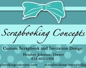 1000 Full Color Business Cards - Reserved For Scrapbooking Concepts