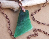Victorian Green Sea Glass Necklace