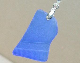 Blue Deco Cobalt Sea Glass Pendant
