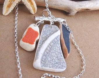 Sea Pottery Charm Necklace