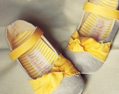 Yellow Girls shoes, gray, grey, maryjanes, Baby Shoes, -Luana