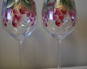 Reserved for  Chelanterpsma Hand Painted Skulls Dishwasher Safe Wine Glass.  Beautiful Gift.