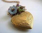 First Date, Brass Locket Necklace
