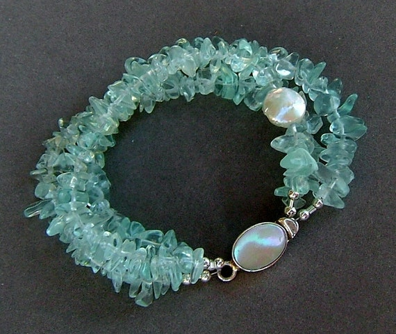 Sea Treasures Bracelet in Aquamarine